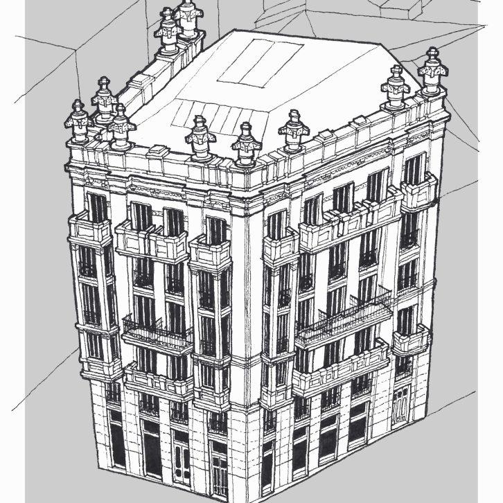 Dibujo Casa Molina Coruña