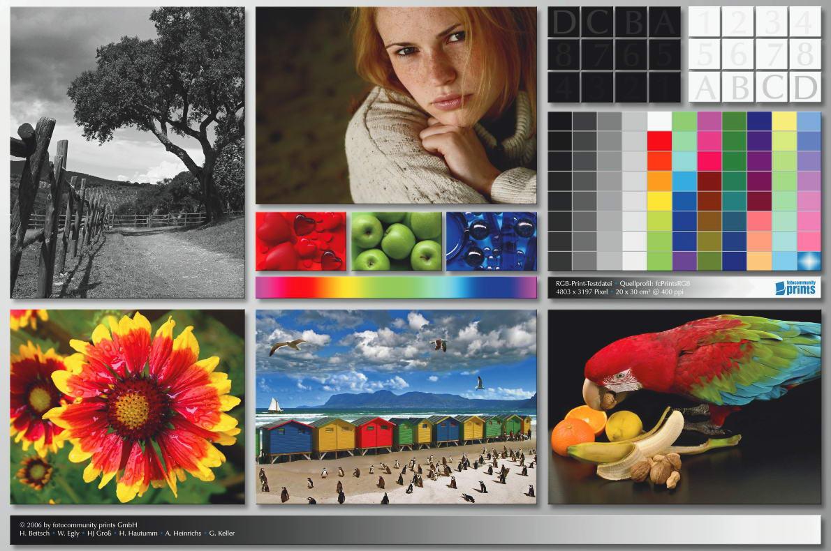 Цветовой профиль принтера | Экранная цветопроба
