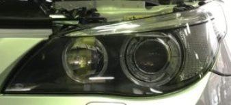 BMW ヘッドライト黄ばみ磨き 施工後