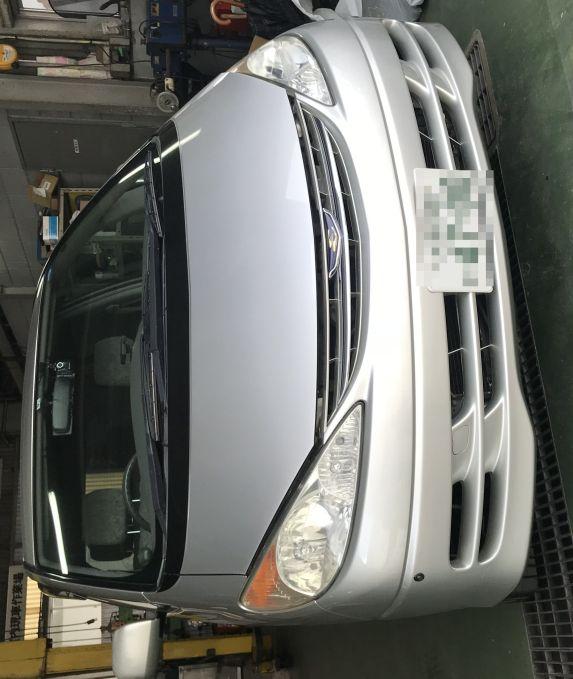 トヨタ エスティマ ACR30W ヘッドライト磨き!黄ばみ 曇り取り 施工前