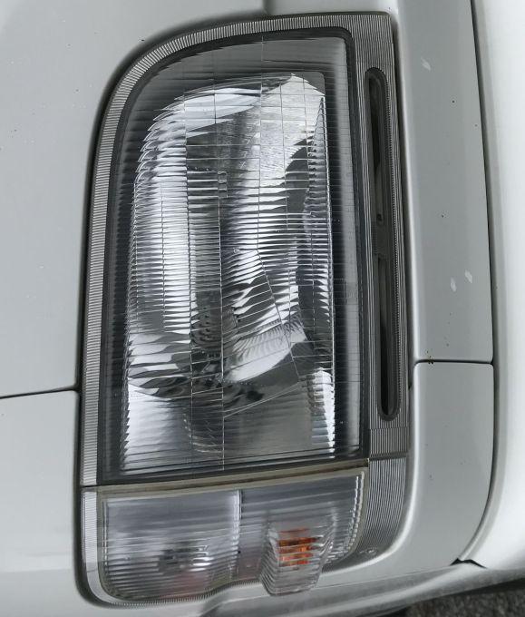 ダイハツ ハイゼットトラック S200P ヘッドライト磨き!黄ばみ 曇り取り 施工後