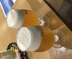 サントリービール工場見学!ザ・プレミアム・モルツ講座 2回目 神泡に文字を転写? すごいですね~!