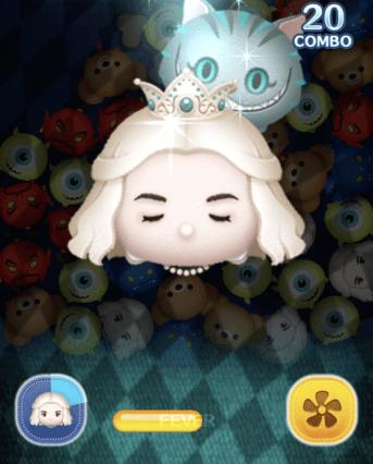 ツムツム白の女王スキル6