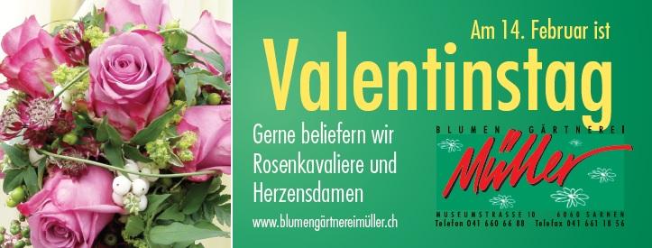 Valentinstag Blumen-Gärtnerei Müller