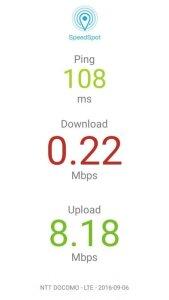 20160906の0SIM通信速度遅すぎ