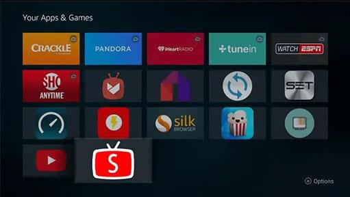 ouvrez sytv depuis vos jeux d'applications