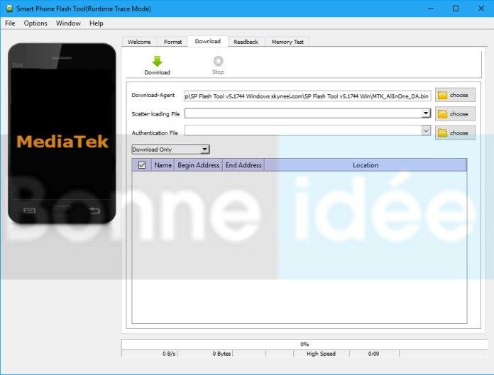 Télécharger et installer SP Flash Tool