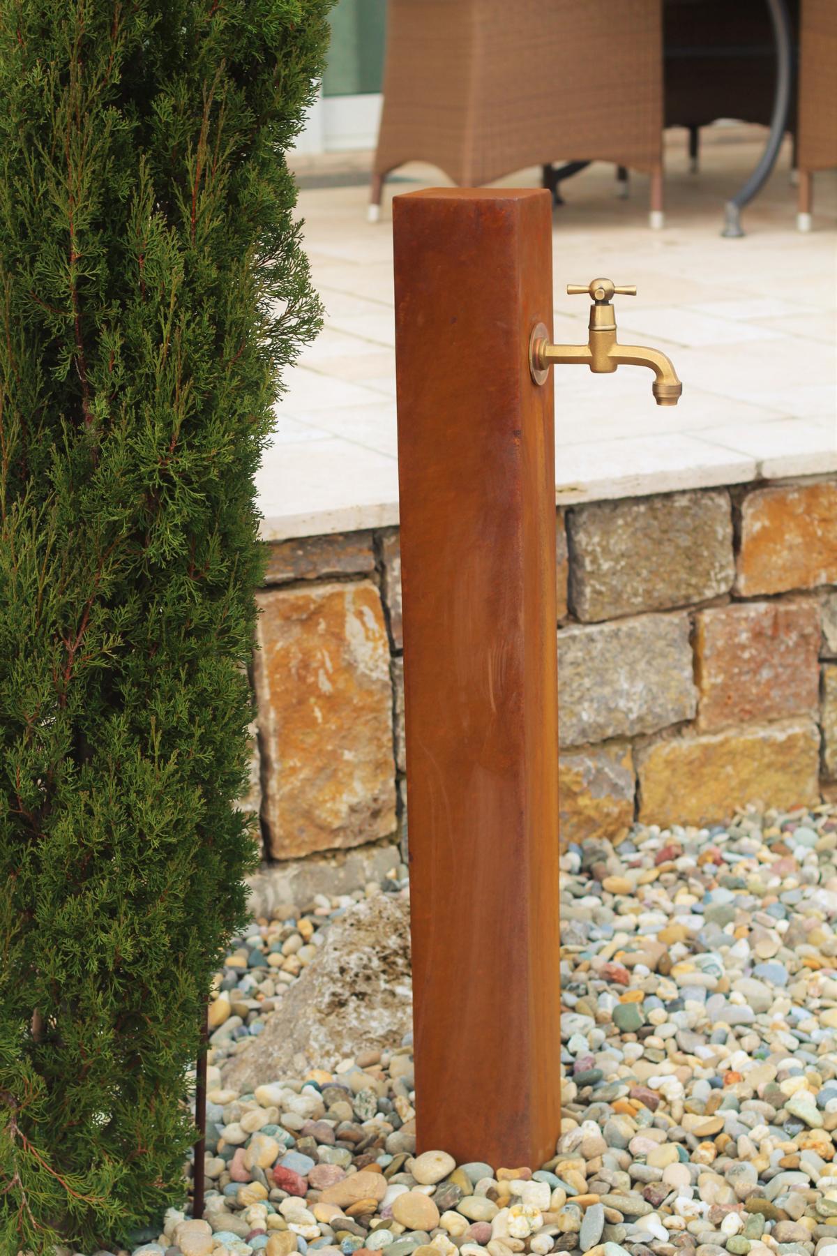 Säule Garten Keramik Stele Dekoration Beetstecker Handarbeit Garten