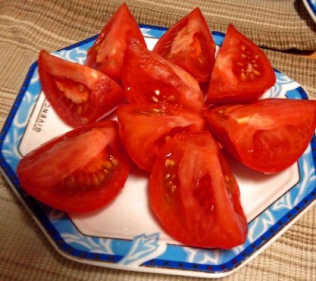 トマトのザク切り
