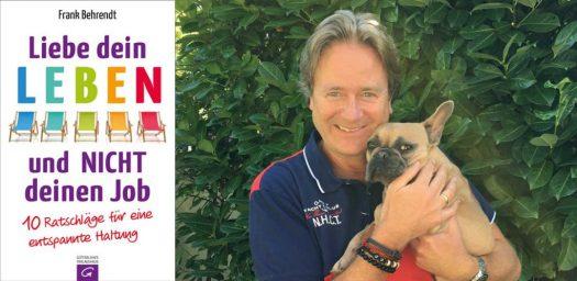 Frank Behrend mit seiner französische Bulldogge Fee. Quelle: Frank Behrendt