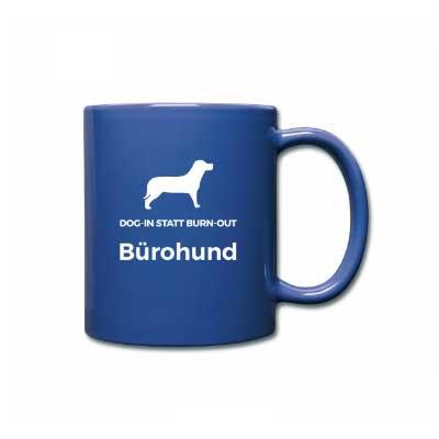 Bürohund-Tasse-Blau