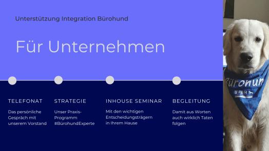 Unterstützung Integration Bürohund Für Unternehmen