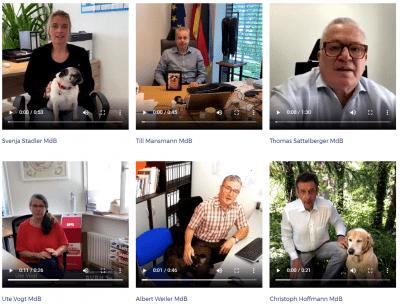 Abgeordnete des Deutschen Bundestages für Bürohunde