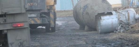 Несоблюдение требований и норм безопасности при демонтаже поселковых газгольдеров в Амурской области