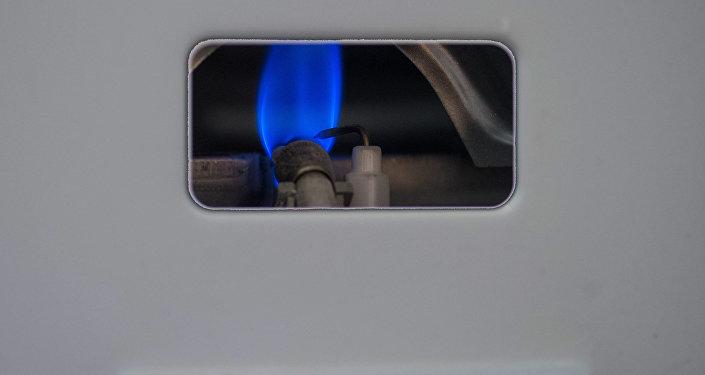 Газовая колонка.