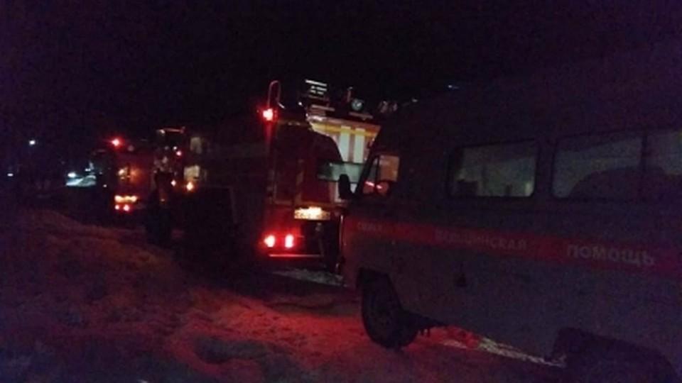 Четверо детей отправились угарным газом в Троицке. Фото: ГУ МЧС РФ по Челябинской области