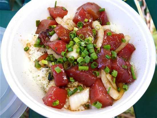 ハワイ マグロ丼