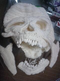リアルあみぐるみ4:頭蓋骨