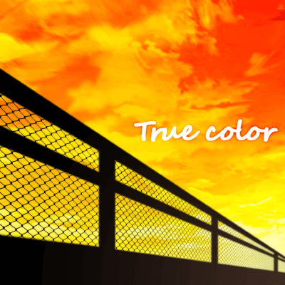 「True color」