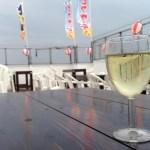 女子会に利用できる沖縄市居酒屋ビアガーデン、グラスワインが美味しいです!