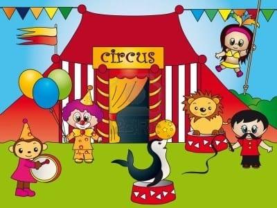 el-circo-y-animales-en-primavera