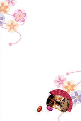 イラストや色使いがとても美しい女性向けの無料デザイン