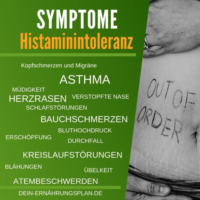 Histaminintoleranz Symptome Ernährungsplan