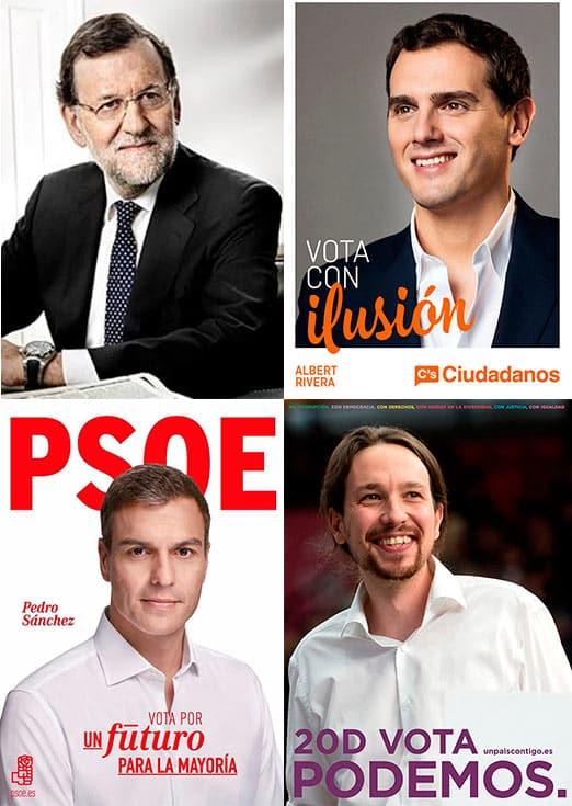 Carteles electorales del 20D en España