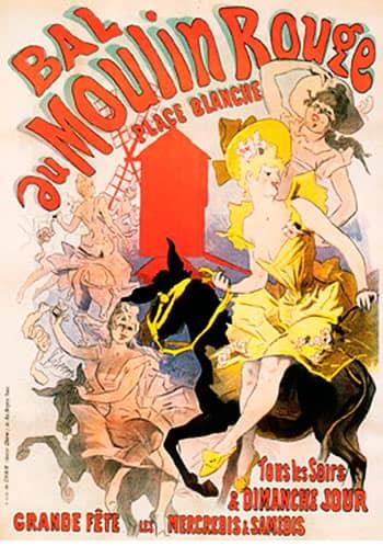 Bal au Moulin Rouge. Jules Cheret (1892)
