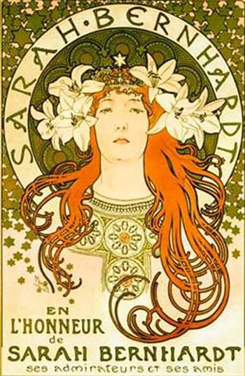 1896 Sarah Bernhardt. Alphonse Mucha