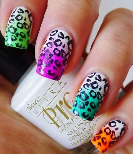 Uñas de leopardo print nails