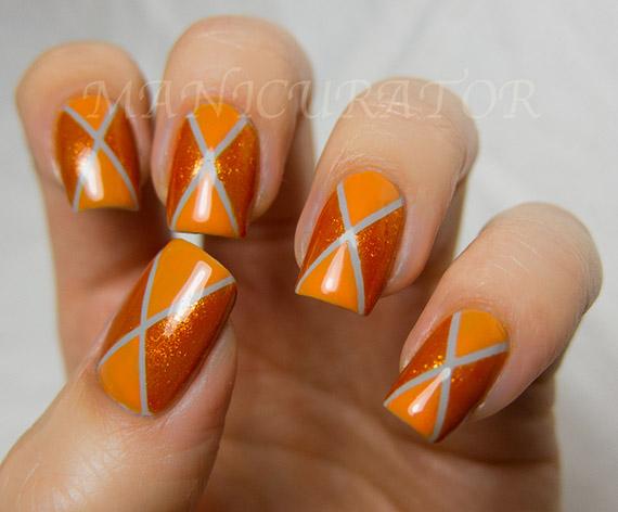 nail-art-en-color-naranja-rombo
