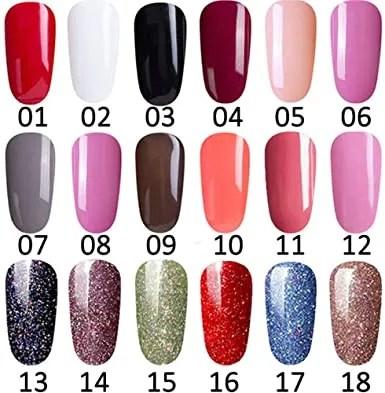 ejemplos de uñas de gel colorado
