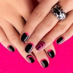 diseños de uñas negras manicuras