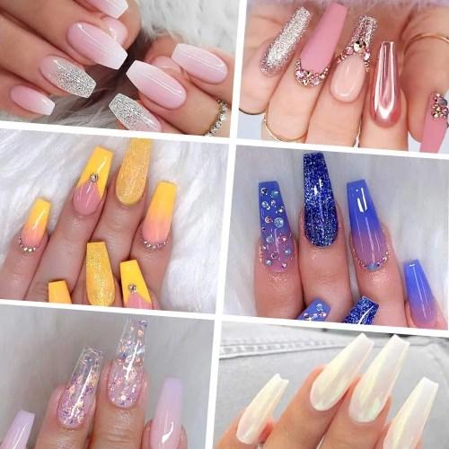 Para verano las uñas acrílicas son muy elegantes y perfectas para fiestas de noche