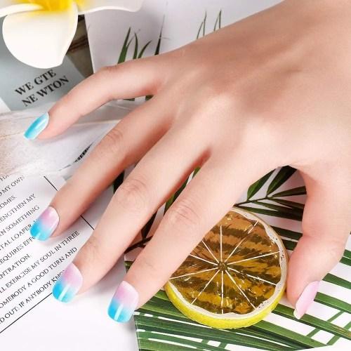 Azul Rojo Rosa Blanco uñas de verano