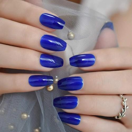 Uñas artificiales profesionales: las uñas de cobertura completa están hechas de material ABS de alta calidad y una capa de acabado mate / UV,