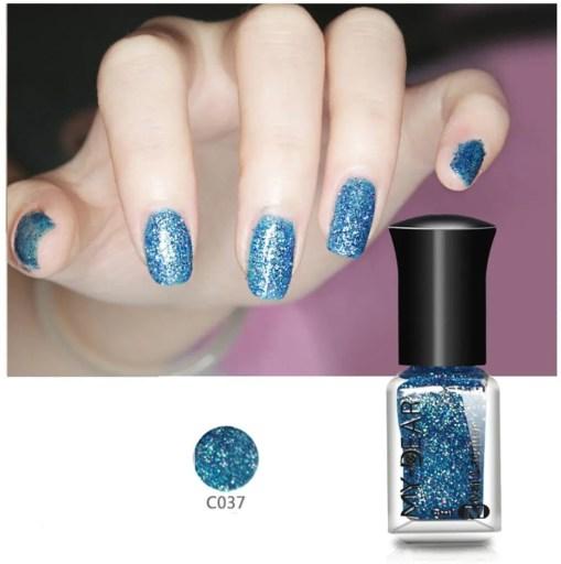 esmalte de uñas Metal Color azul