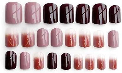Uñas de varios colores marrón