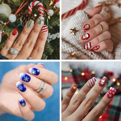 Motivos y deños de navidad para uñas espectaculres
