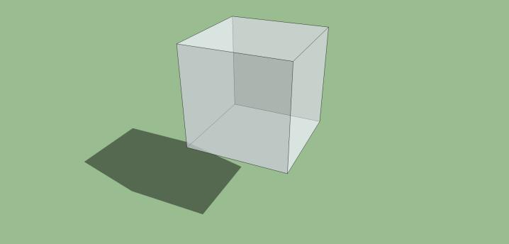 立方体の影
