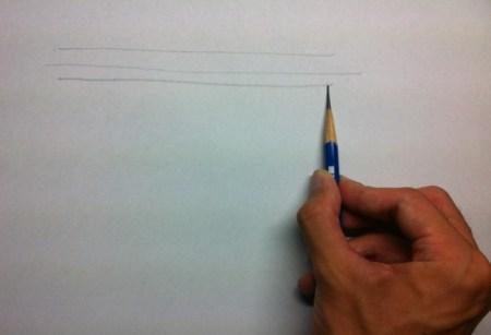 鉛筆で線を描く