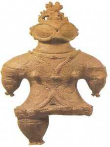 Глиняная статуэтка. Конец периода дземон. 2 век до н.э. Япония