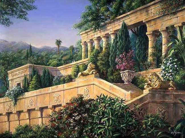 чудеса света висячие сады семирамиды