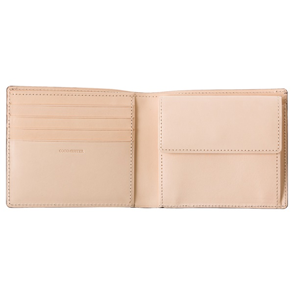 コードバン2つ折り財布の内側