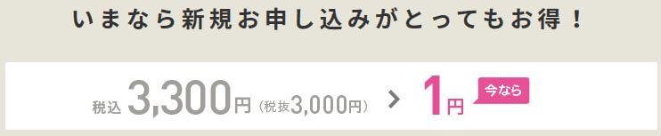 初期費用1円