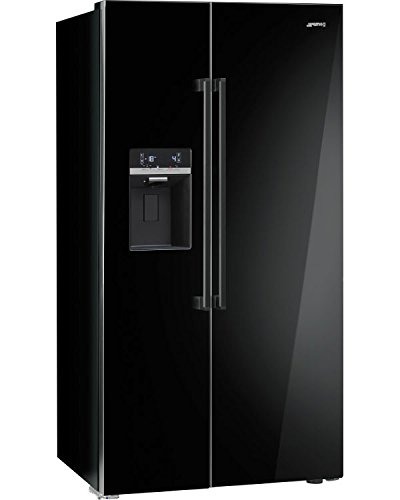 smeg sbs63ned side by side k hl gefrier kombination schwarz einbauk. Black Bedroom Furniture Sets. Home Design Ideas