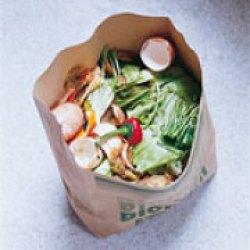 Biomülltüte im Einbaumülleimer, Mülleimer Küche