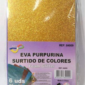 Goma eva purpurina