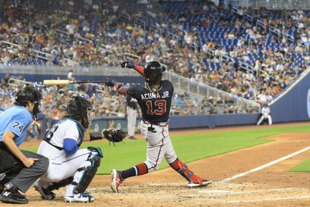 Ronald Acuña Jr conectó su trigésimo cuarto jonrón de la temporada